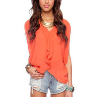 Butterfly Top in Dusty Orange :: tobi