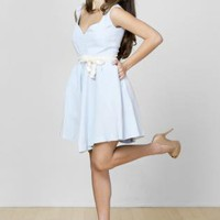Blue Day Dress - Sweetheart Summer Dress | UsTrendy