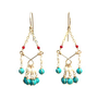 Supermarket: Turquoise Chandelier Earrings from Lee Planer