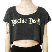 Psychic Death // Crop Top Tee // Charcoal Black | ACTUAL PAIN