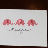Thank you Cards Baby Shower Elephants Customize w/ by RoyalRegards