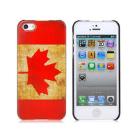 Retro Canadian Flag Pattern Protective Case for by FavorCase