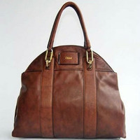 CHLOE bag coffee dermis bag 29305