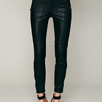 Free People Rocker Vegan Leather Cropped Skinny