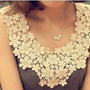 New Japanese Korean Summer Cute Pretty Lace Crochet Floral Flower Tank Top Shirt
