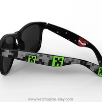 Minecraft Sunglasses  Wayfarer sunglasses video game by ketchupize