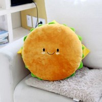 "Amazon.com: Hamburger Plush Cushion 16"" Cotton Food Figure Toy Doll King Burger Kawaii Cute Decoration Good Gift for Every Special Day: Home & Kitchen"