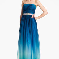 La Femme Embellished Ombr Chiffon Gown | Nordstrom