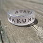 Custom Quote Ring by Artistieke on Etsy