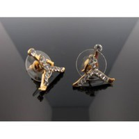 Amazon.com: Michael Air Jordan Jumpman Gold Tone CZ Stud Hip Hop Bling Earrings: Everything Else