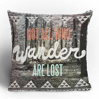 Wesley Bird Wander Throw Pillow