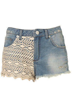 MOTO Crochet Hotpants - Shorts  - Clothing  - Topshop
