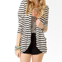 Striped Shawl Collar Cardigan