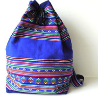 Tribal Fabric Backpack by sweetllamasupplies