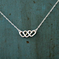 Infinite Love Infinity Necklace gifts Sterling Silver Heart Necklace Best Friends Gift Mothers gift