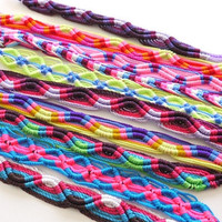 Friendship Bracelets Colorful Neon Tribal, 10 PACK by sweetllamasupplies