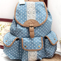 Sweet lovely bud silk backpack from flowerbird