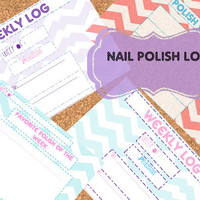 INSTANT DOWNLOAD Nail Polish Log