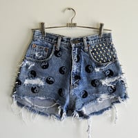 The Spike Studded YIN YANG Shorts