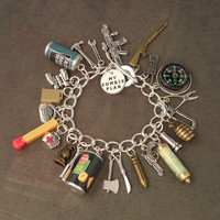 I&#x27;ve Got A ZOMBIE PLAN Charm Bracelet For The Zombie Apocalypse