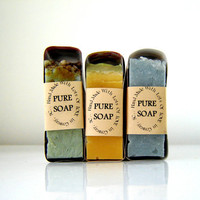 Big beautiful soaps.  Handmade Artisan SOAP.  vegan ingredients