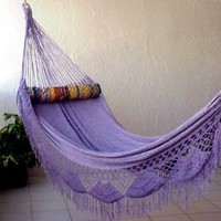 Nicamaka Family Hammock, Lilac: Patio, Lawn &amp; Garden
