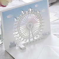 London Eye card blue sky