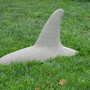 "Killer Whale Fin Garden Ornament, Sculpture 19 1/2"" Long"