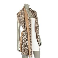 Amazon.com: Fashion Chic Leopard Animal pattern jacquard woven thicker shawl with open fringes - Fashion Scarf Shawl Wraps --Beige White -PC0360: Clothing