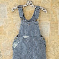 Free People Vintage Railroad Stripe Overall Shorts