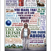 The Dude Abides- The Big Lebowski tribute- signed print