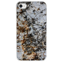 iPhone 4 /4S case Marble pattern  grey black by SkyeZPhotography