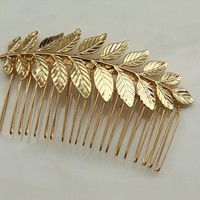 24k gold plated Bridal hair comb  Victorian shabby by TheUrbanLady