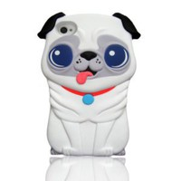 New cute 3D White Pekingese dog Hard Case Cover for iphone 4 4s 4G Xmas Gift: Cell Phones & Accessories
