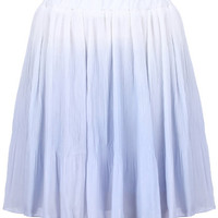 ROMWE | Gradient Blue Pleated Skirt, The Latest Street Fashion