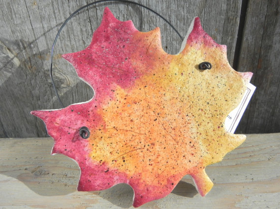 Salt Dough Leaf Ornament / Autumn Leaves from cookiedoughcreatio