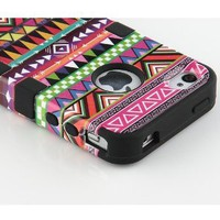 Amazon.com: Black 3-Piece Tribal Pattern High Impact Hard Case Cover For iPhone 4 4S 4G: Cell Phones & Accessories