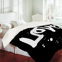 DENY Designs Home Accessories | Kal Barteski Love Black Duvet Cover