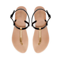 STRAPPY THONG SANDAL - Shoes - Woman - ZARA United States