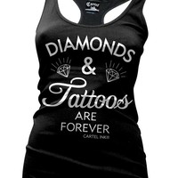 Cartel Ink &#x27;Diamonds and Tattoos are Forever&#x27; Tank