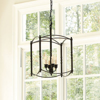 Carriage House Chandelier | Large Chandelier | Dark Bronze Chandelier |