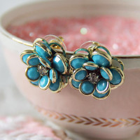 Winter Buds Earrings in Turquoise, Sweet Affordable Jewelry