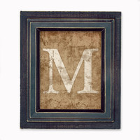 Distressed Letter Print Wall Art and Decor  by littleredflag