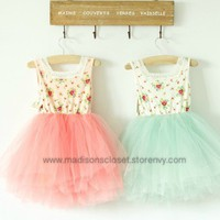 Flower Top w/ Tulle Skirt
