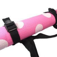 Amazon.com: Polka Dot Yoga Mat with Adjustable Carry Strap - Pink / White: Sports & Outdoors