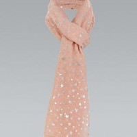Metallic Star Printed Scarf