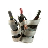 "3-Bottle Steel Wine Holder (""Charlie's Angles"")"