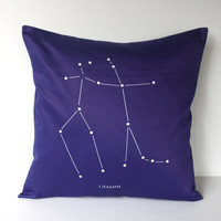 GEMINI zodiac cushion astrology decorative by mybeardedpigeon