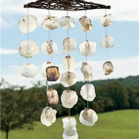 Capiz Wind Chime in Wind Chimes