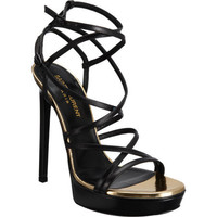 Saint Laurent Janis Platform Sandal at Barneys.com